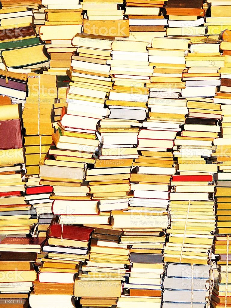 Vintage book wall royalty-free stock photo