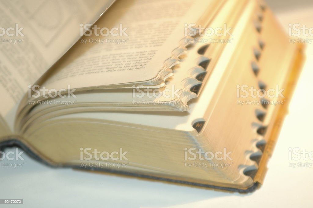 vintage book with tabs royalty-free stock photo