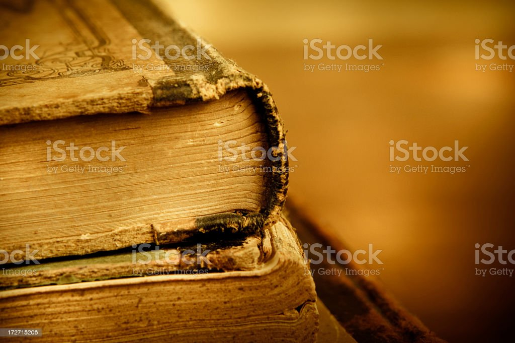 Vintage Books royalty-free stock photo