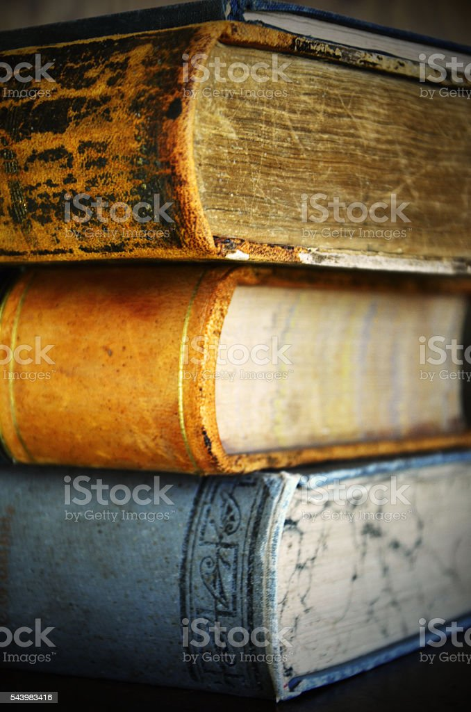 Vintage Books stock photo