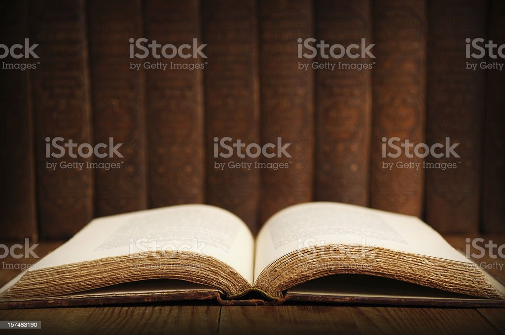 Vintage Books - Research royalty-free stock photo