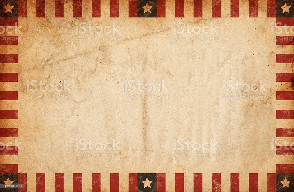 Vintage Bordered Patriotic Paper XXXL royalty-free stock photo