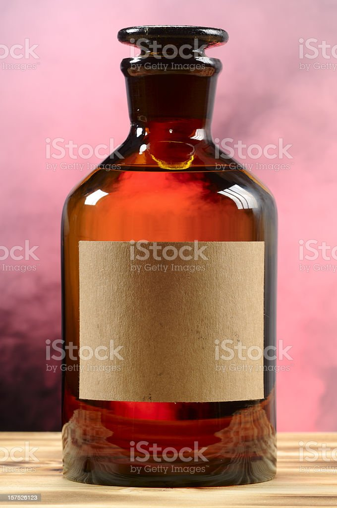 Vintage Bottle With Fog royalty-free stock photo