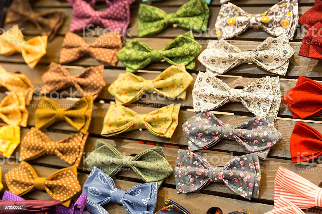 Vintage bow-ties stock photo
