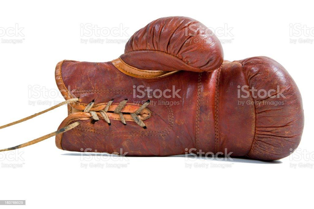 Vintage Boxing glove stock photo