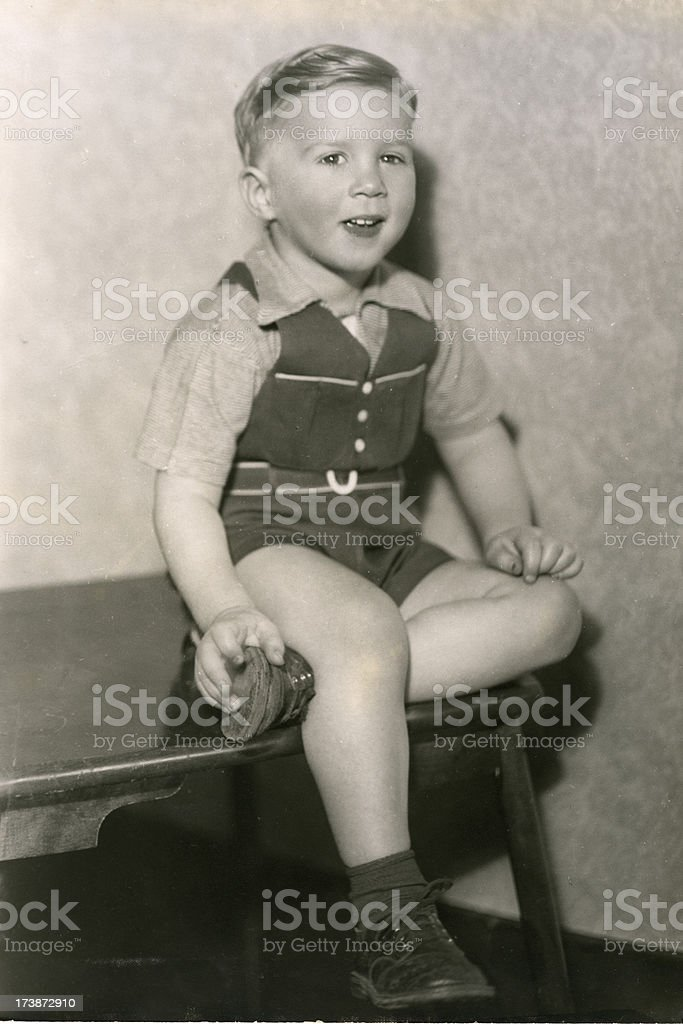 Vintage Boy    View images from same session royalty-free stock photo