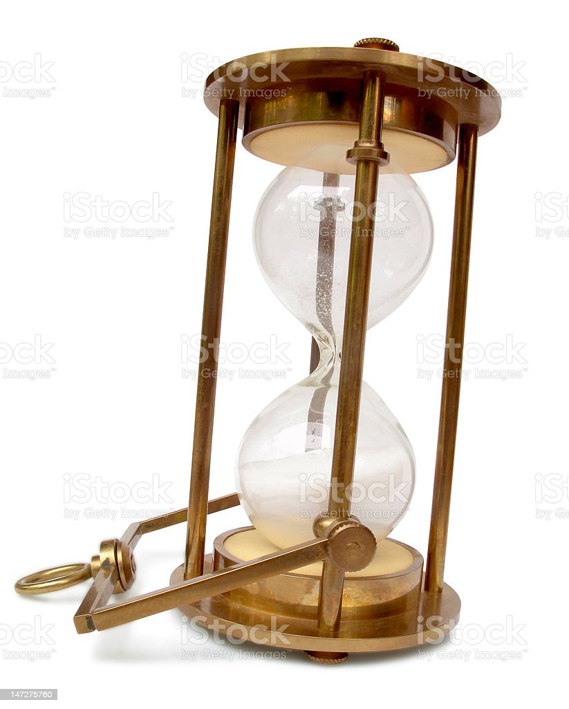 Vintage Brass Hourglass royalty-free stock photo