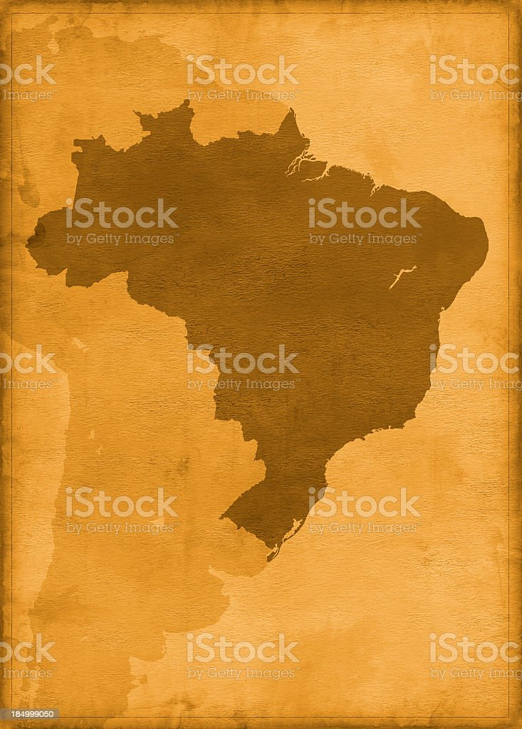 Vintage brazil map stock photo