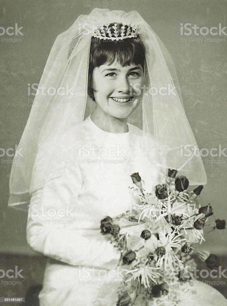 Vintage Bride stock photo