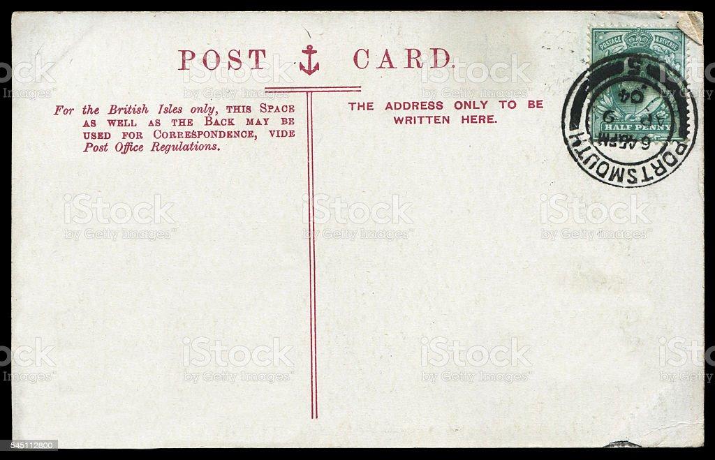 vintage british postcard background stock photo