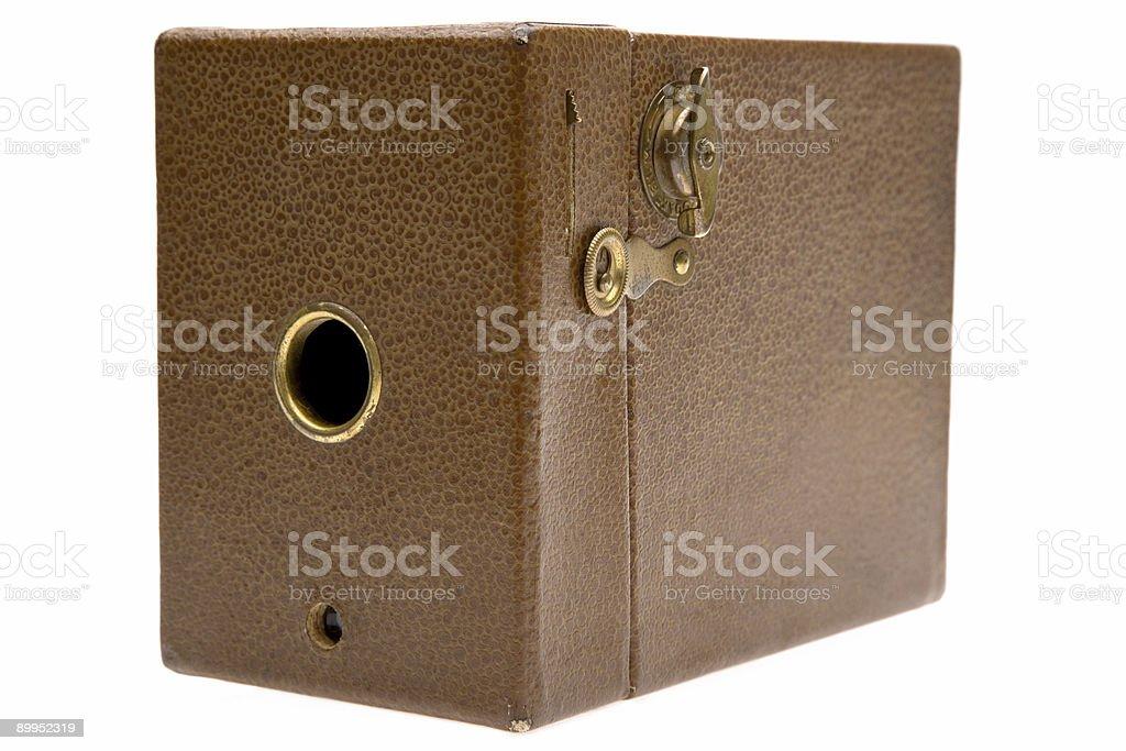 Vintage Brown Box Camera stock photo
