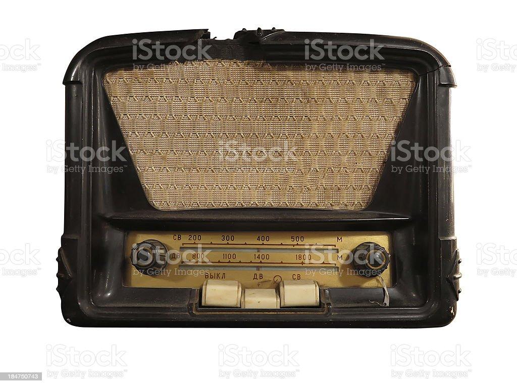 - receptor de rádio antigo Vintage isolado foto de stock royalty-free