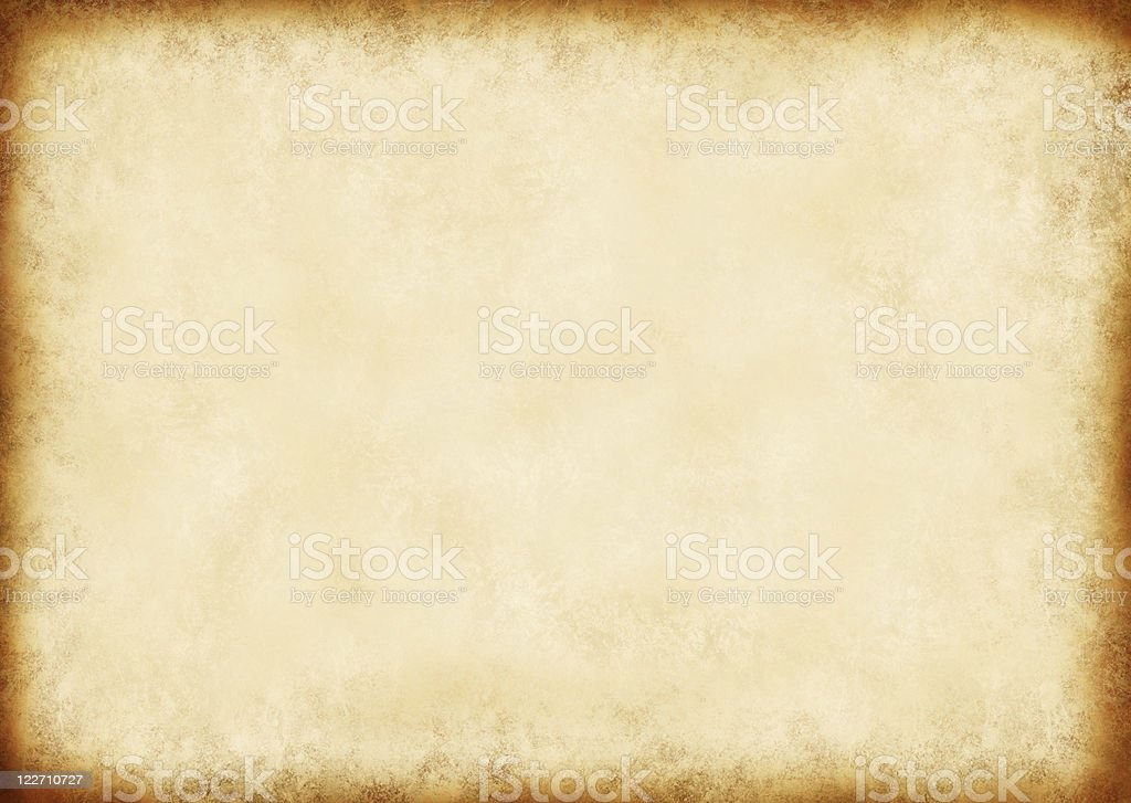 Vintage brown paper background with dark border stock photo