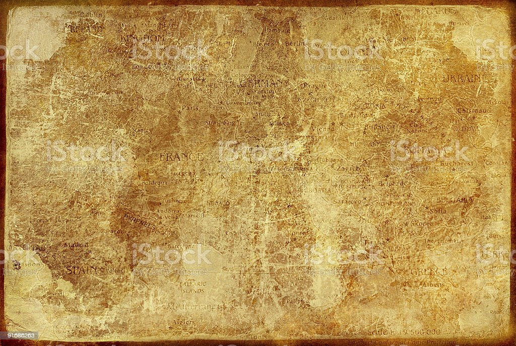 Vintage brown paper rectangular template stock photo