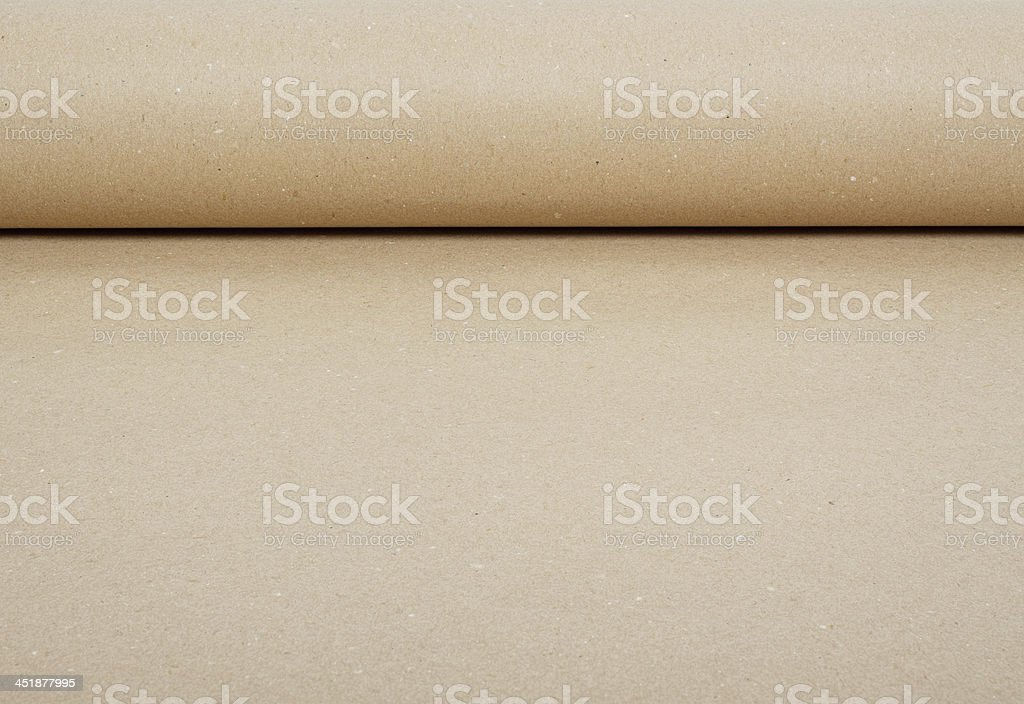 vintage brown roll paper background stock photo