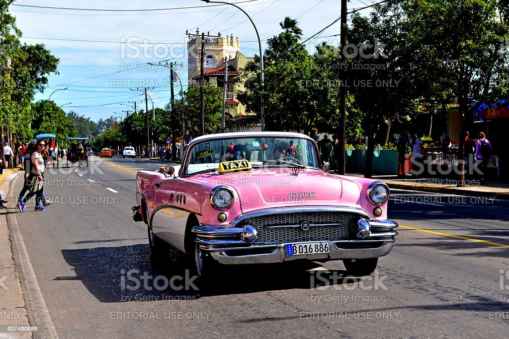 Vintage Buick in Varadero stock photo