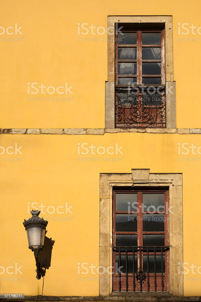 Vintage building exterior stock photo