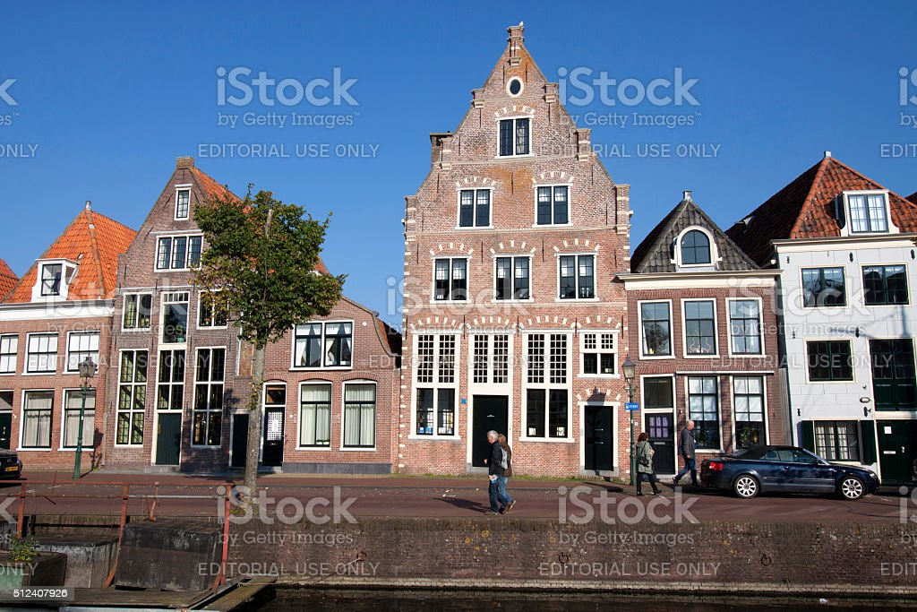 Vintage buildings from holland stock photo