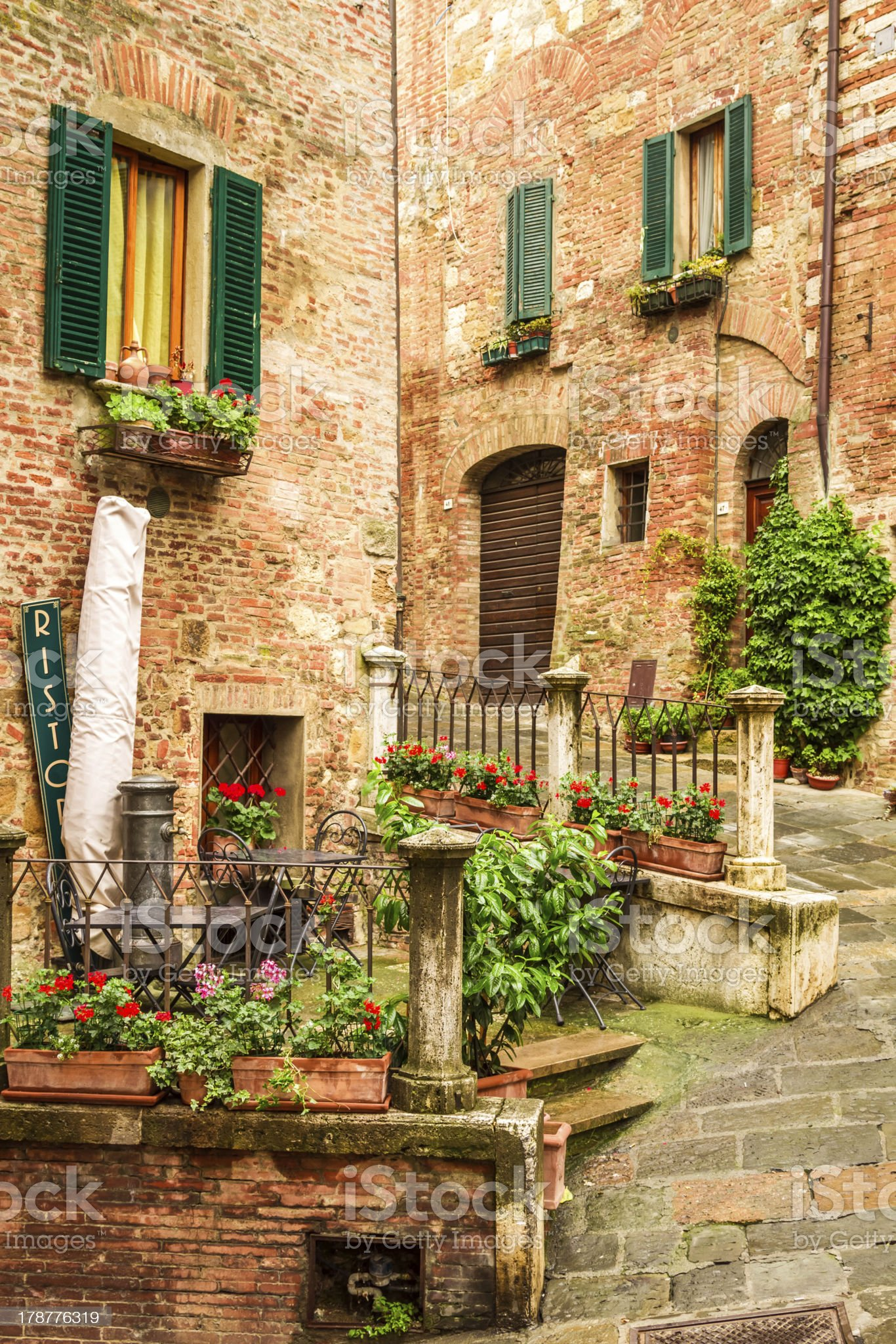 Vintage buildings in Italy royalty-free stock photo