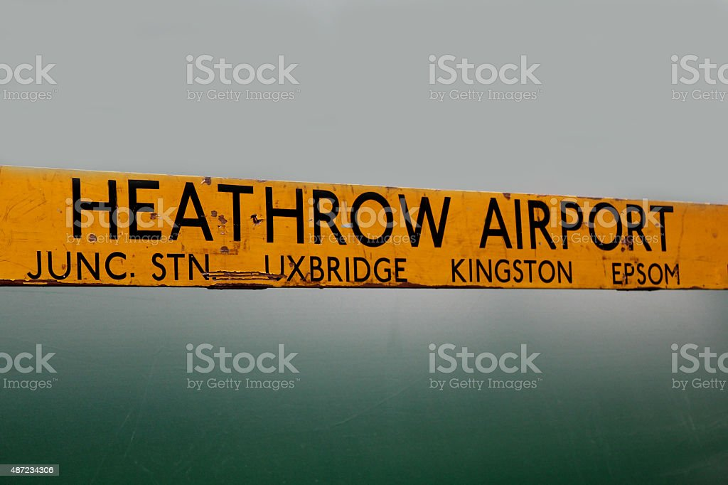 Vintage Bus Stop Sign stock photo