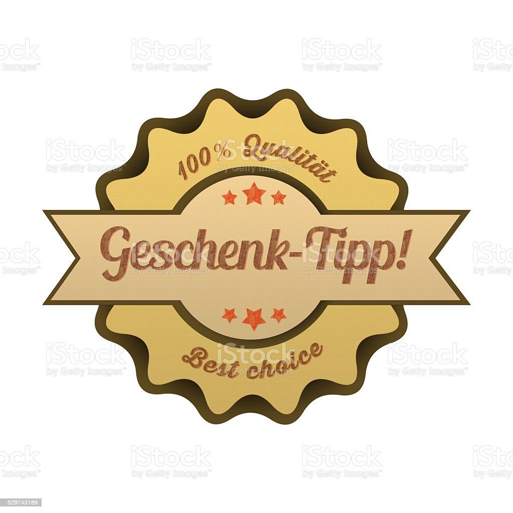 Vintage Button / Geschenk-Tipp! stock photo