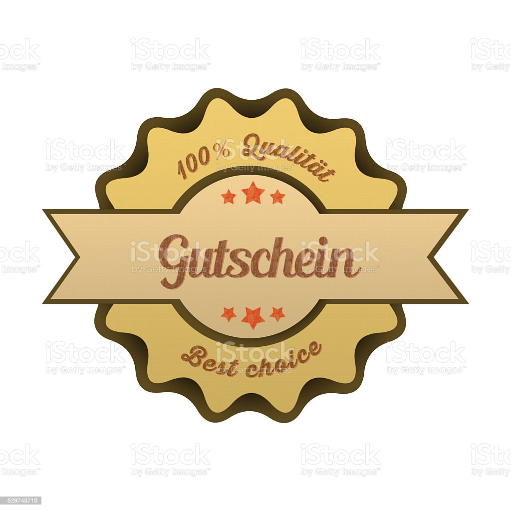 Vintage Button / Gutschein stock photo