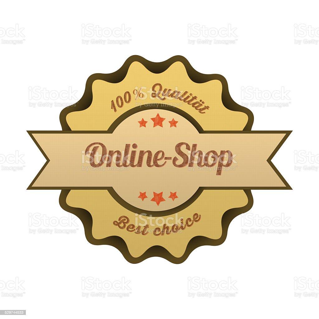 Vintage Button / Online-Shop stock photo