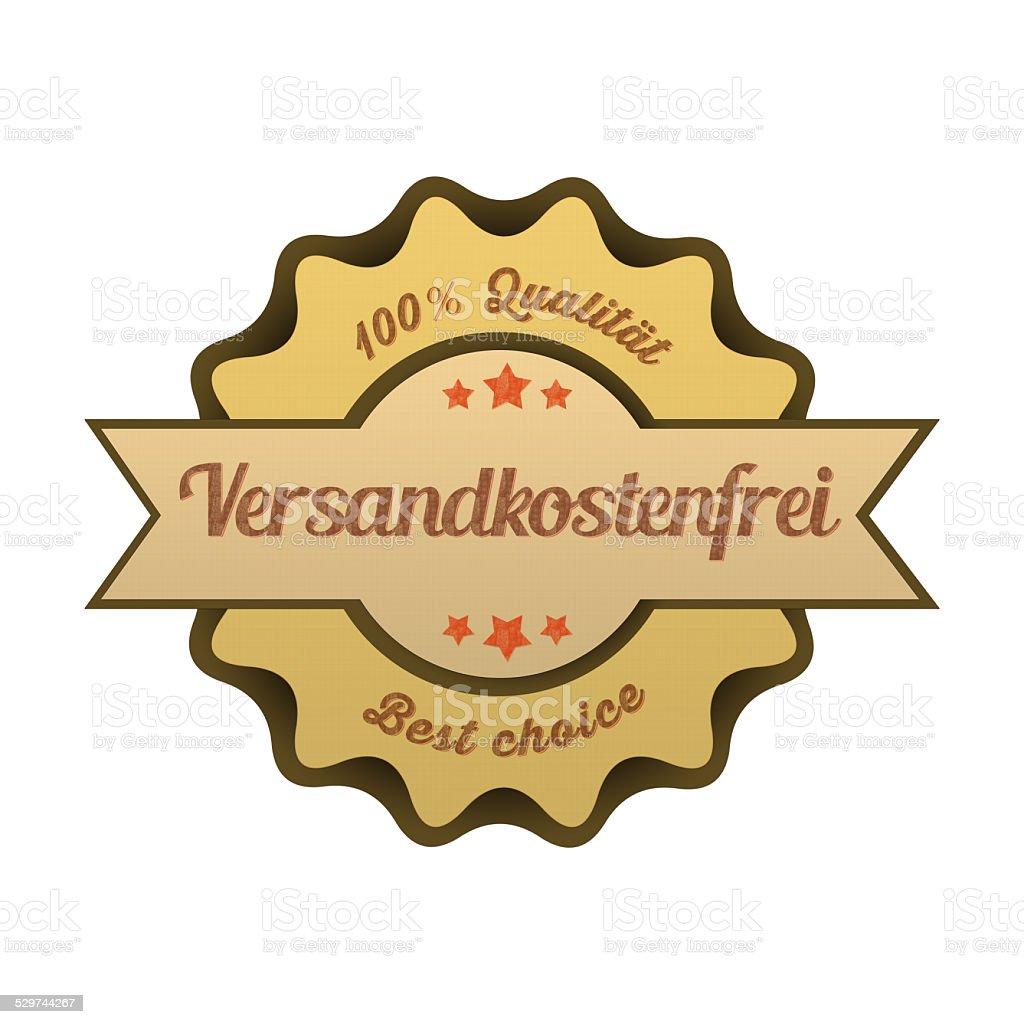 Vintage Button / Versandkostenfrei stock photo