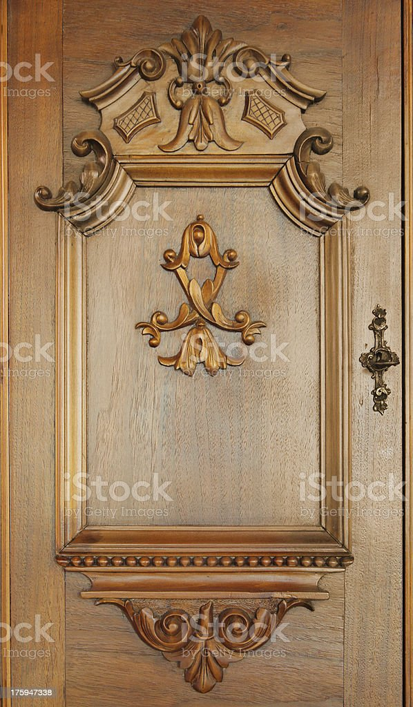 Vintage Cabinet Door royalty-free stock photo