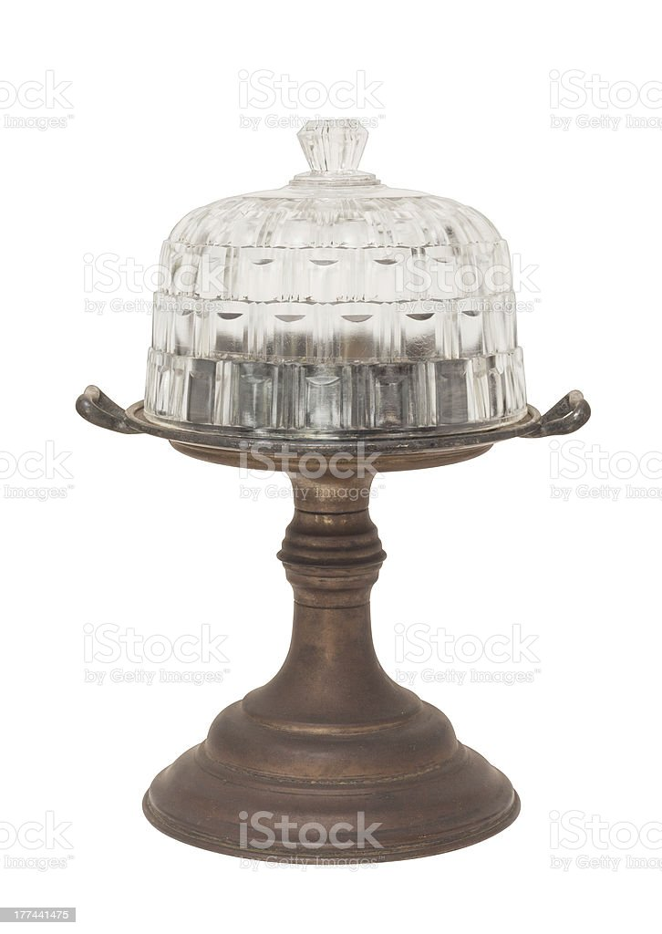 vintage cake stand royalty-free stock photo
