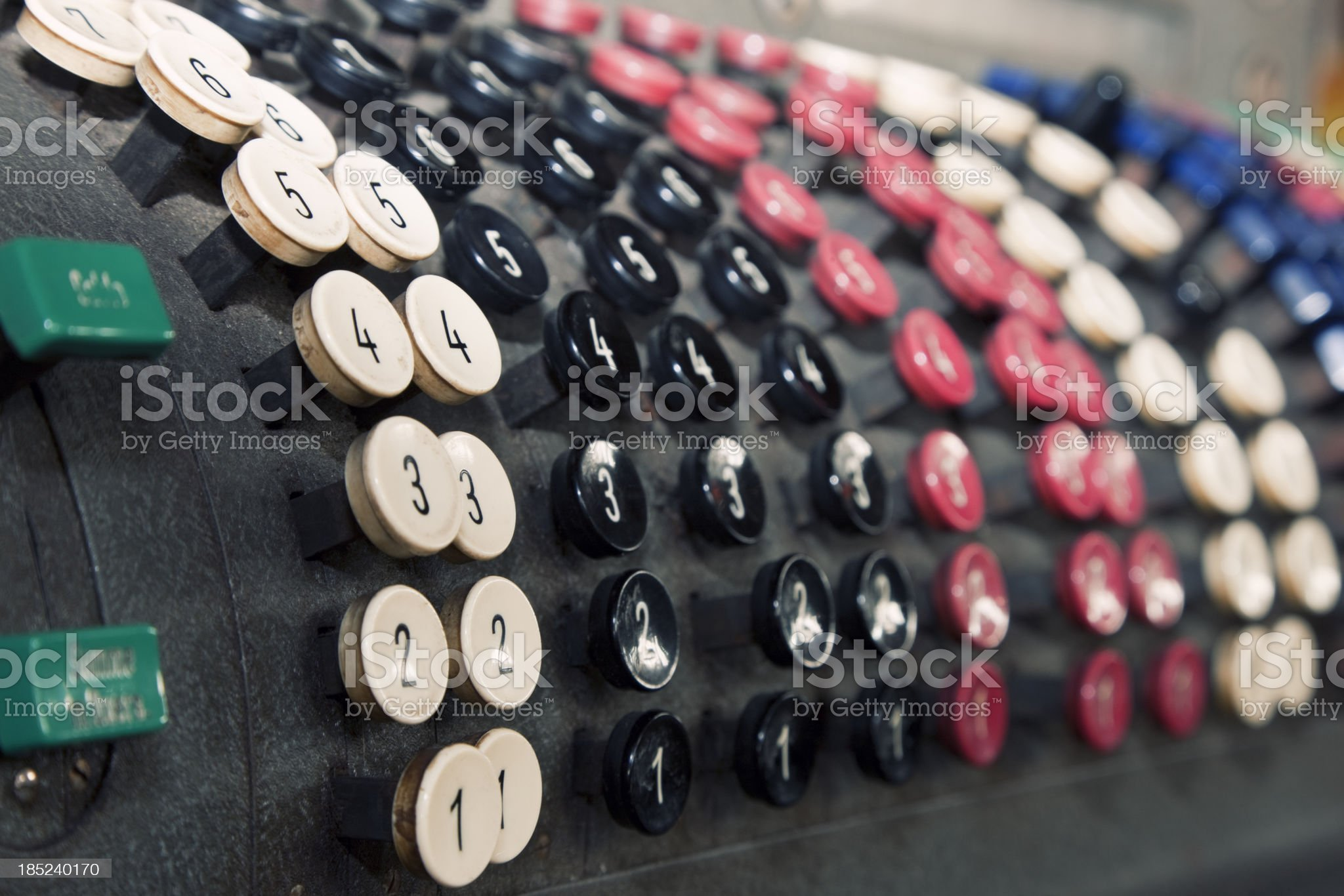 Vintage Calculating Machine Close-up royalty-free stock photo
