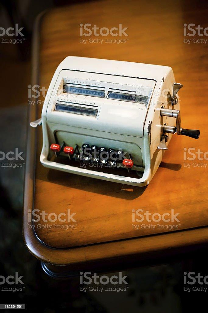 vintage calculator stock photo