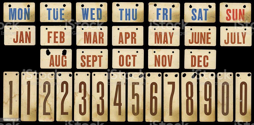 vintage calendar cards stock photo