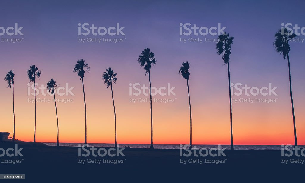 Vintage California Beach Photo stock photo
