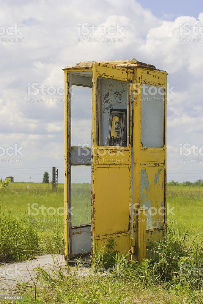 vintage call-box royalty-free stock photo