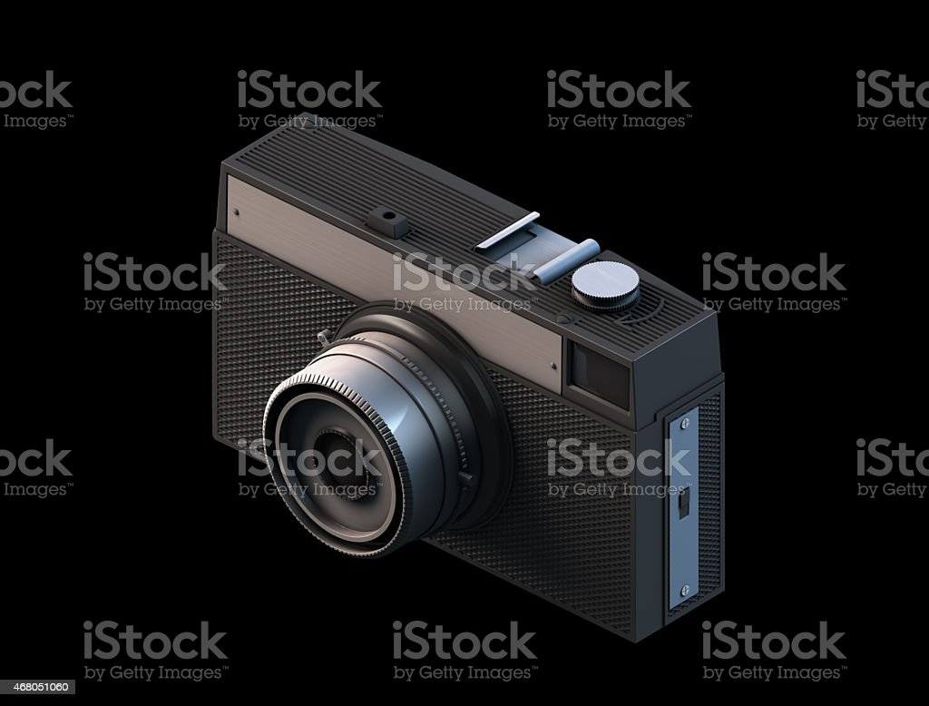 Vintage camera 3D render stock photo