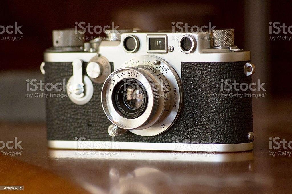 Vintage Camera at Angle stock photo