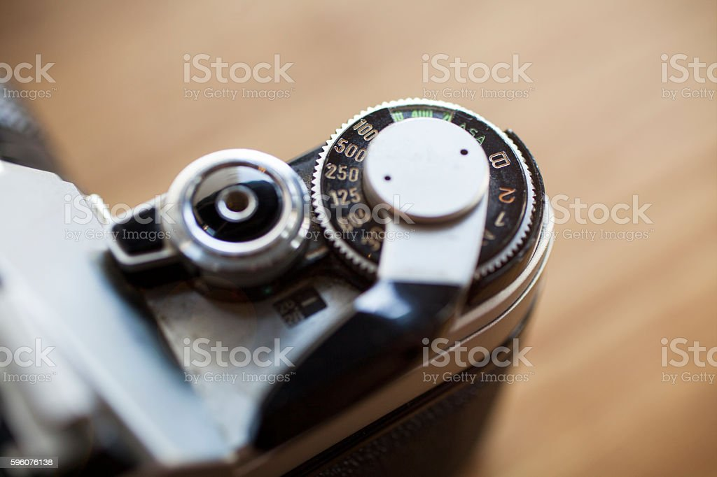 Vintage Camera Detail stock photo