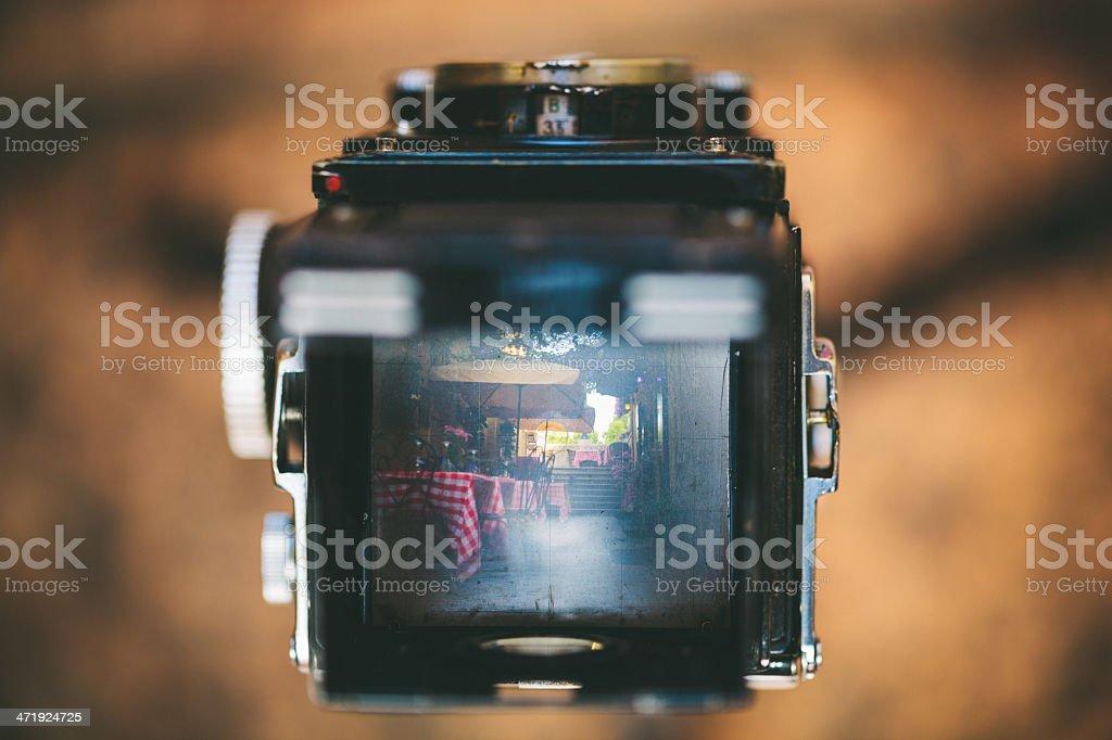 Vintage Camera in Italy stock photo