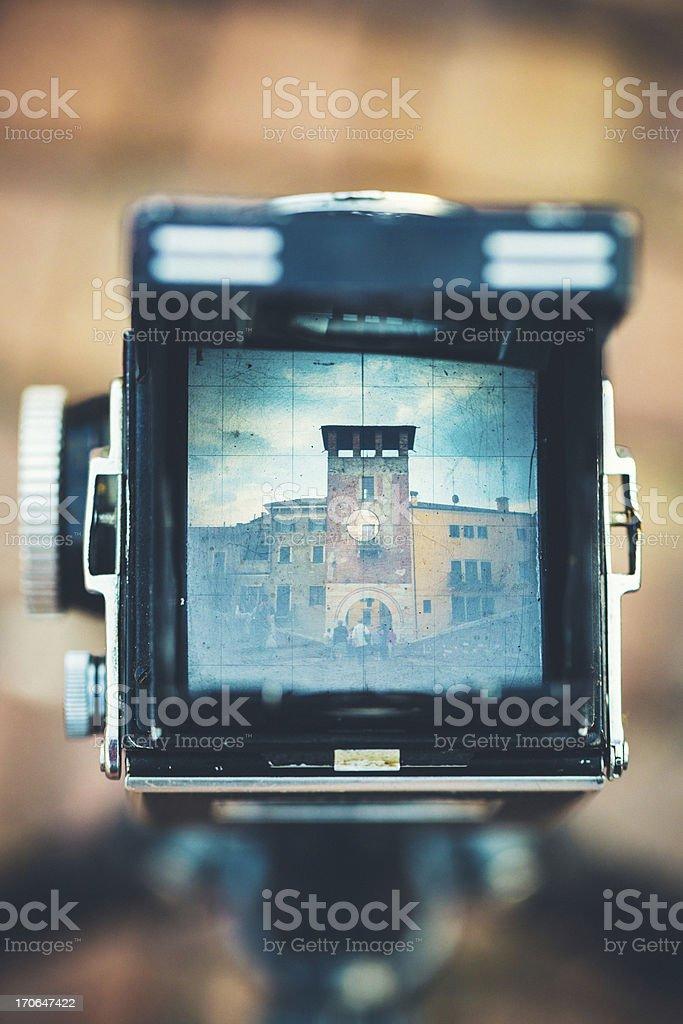 Vintage Camera in Verona, Italy stock photo