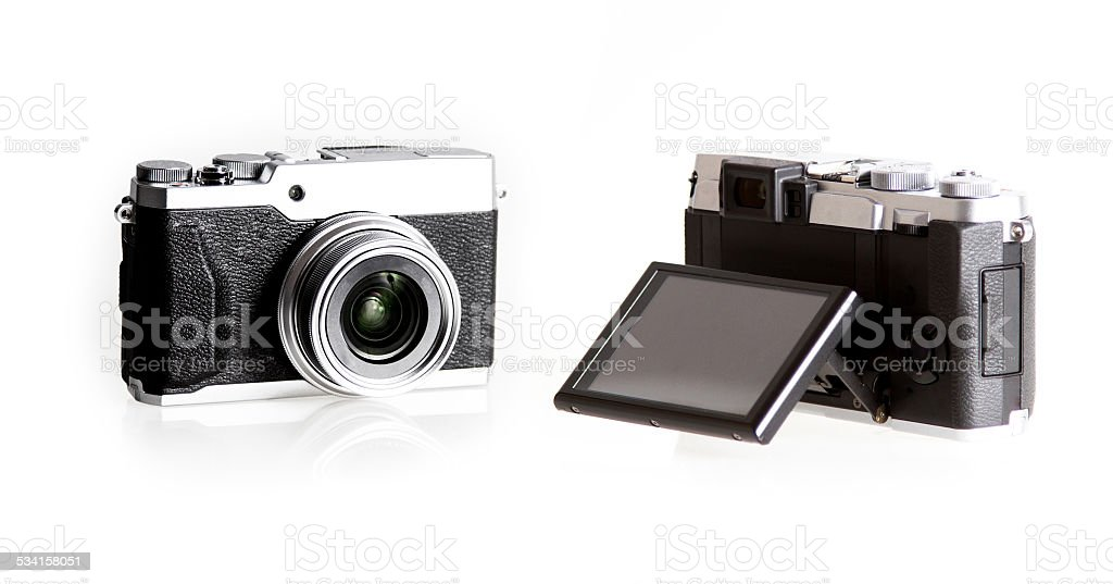 Vintage Camera isolated stock photo