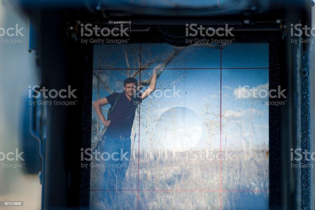 View through Ground Glass stock photo
