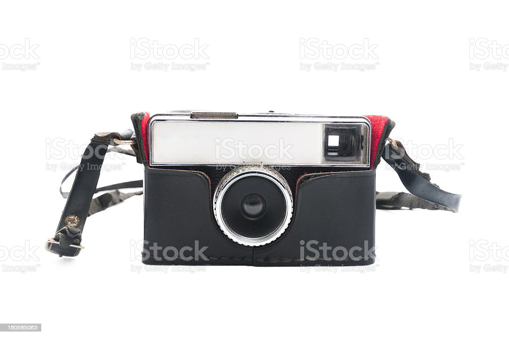 Vintage camera with leather case royalty-free stock photo