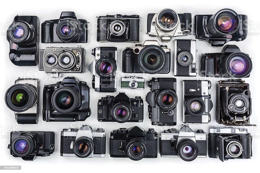 Vintage Cameras. stock photo
