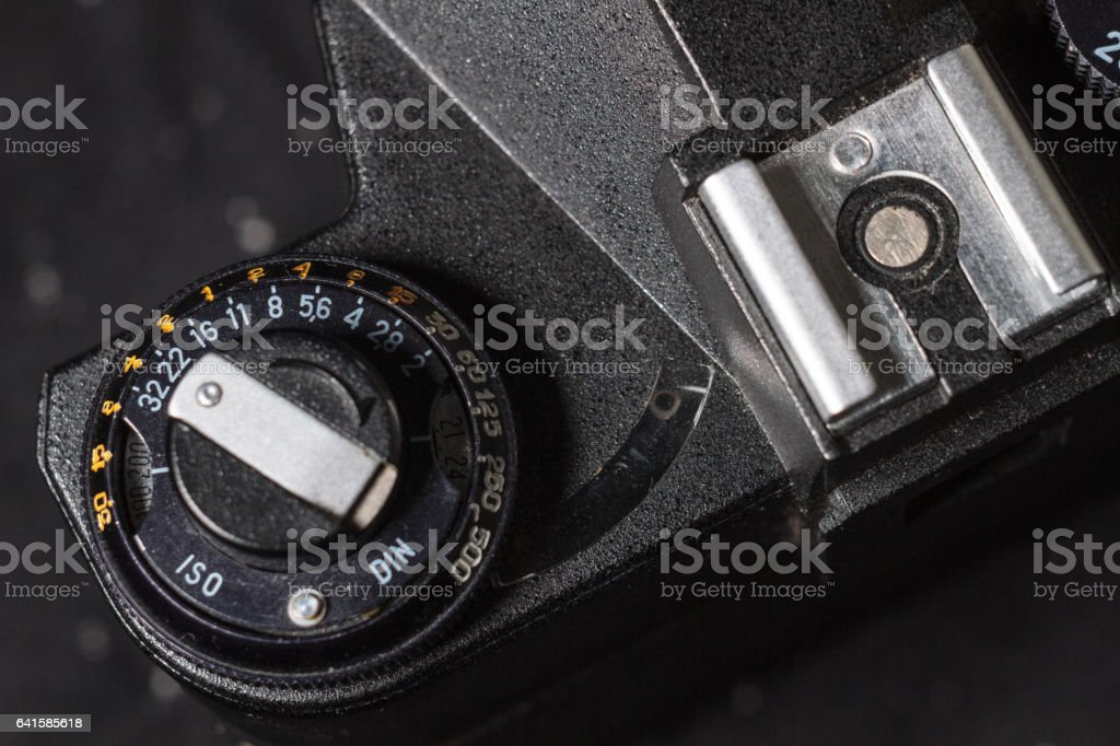Vintage cameras stock photo