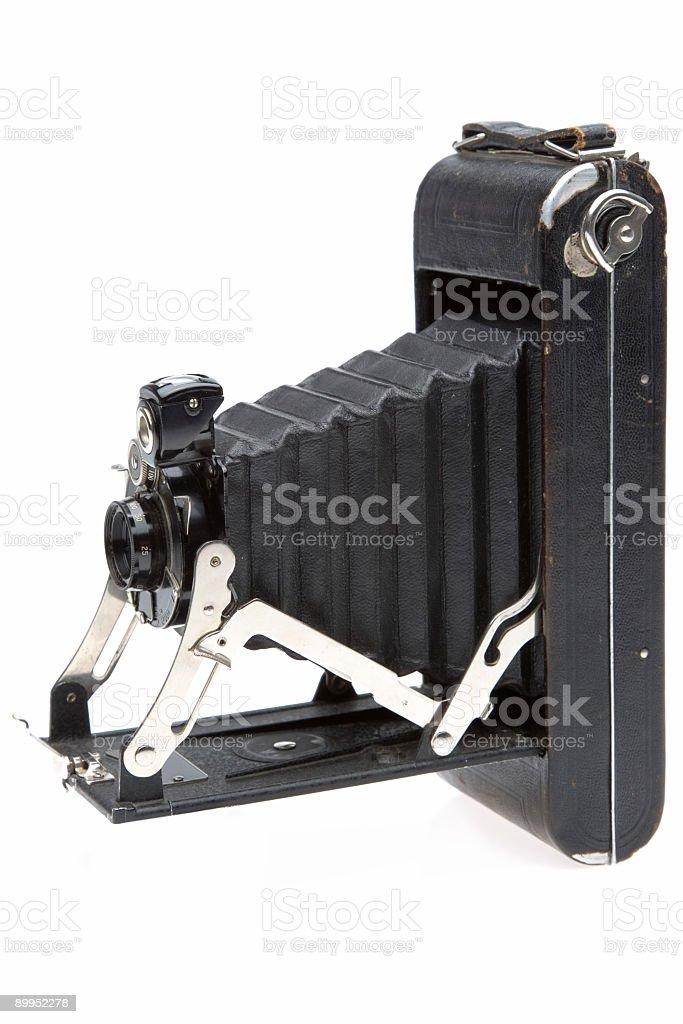 Vintage Camera-Side Profile stock photo