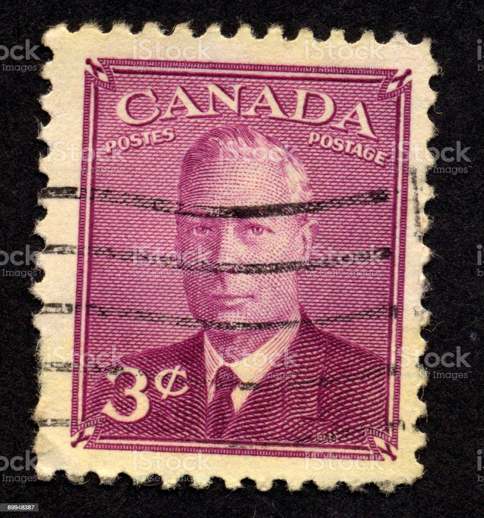 Vintage Canadian Stamp, Ephemera. royalty-free stock photo