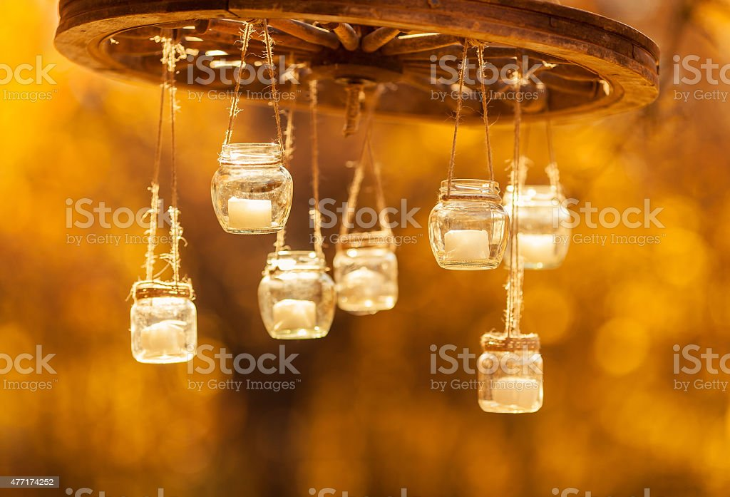 Vintage candle luster stock photo