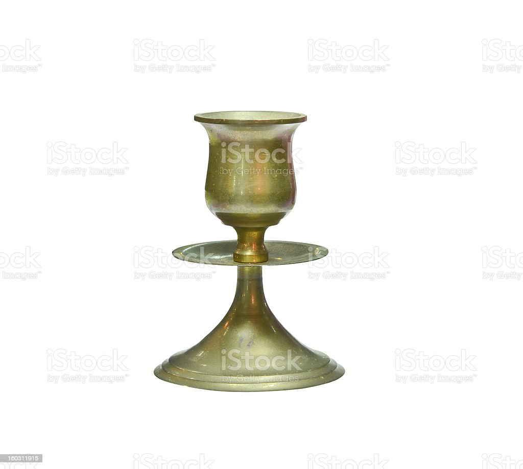 Vintage candlestick isolated royalty-free stock photo