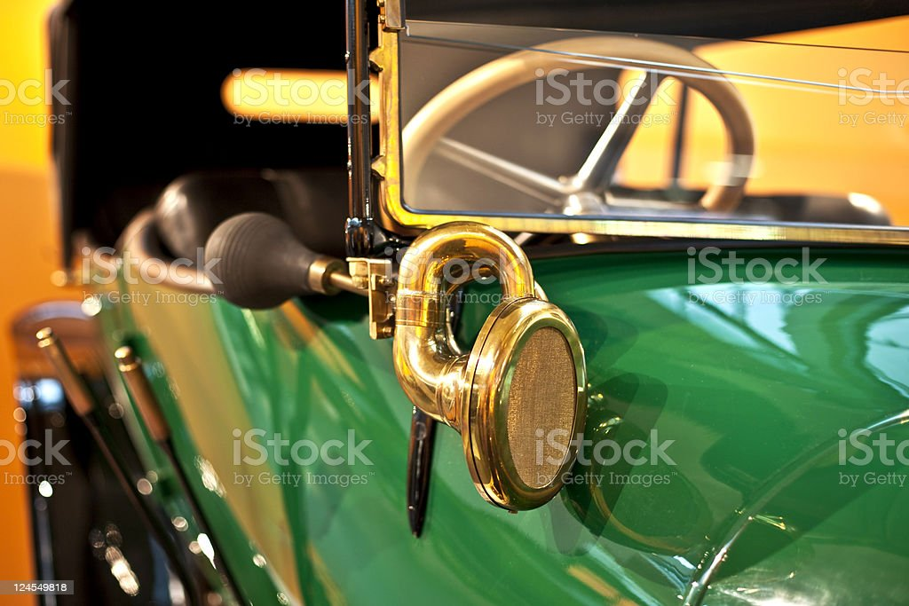 Vintage car close-up royalty-free stock photo